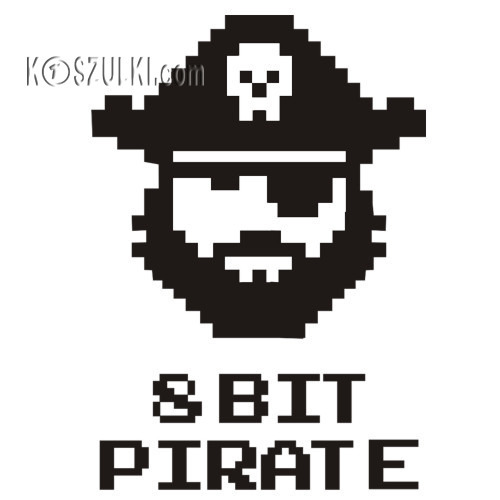 t-shirt 8 BIT pirate