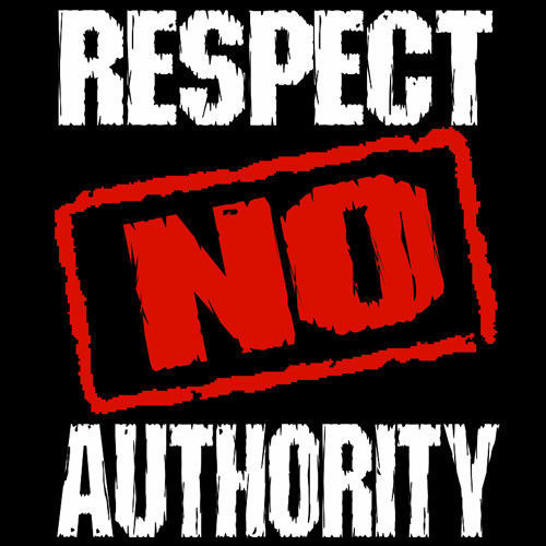 t-shirt Respect No Authority