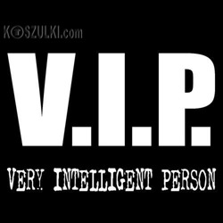 t-shirt V.I.P. - Very Intelligent Person