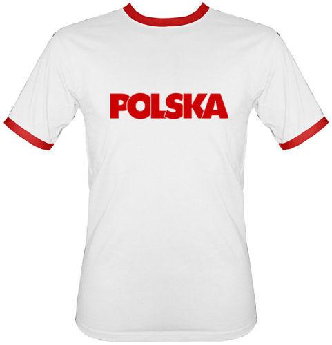 e4ca33124b60 t-shirt 2K065 napis Polska Biały