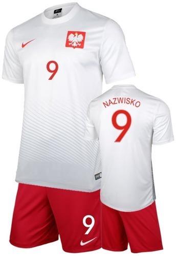 121fcec47 Strój Piłkarski Reprezentacji Polski nike z Euro 2016 z własnym nadrukiem