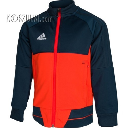 7a82de533 Bluza adidas REPREZENTACYJNA TIRO 17 junior czarno-pomarańczowa BQ2614